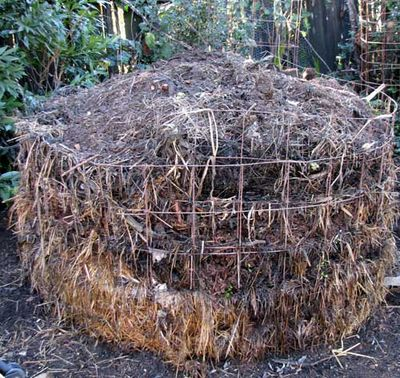 Well-built compost pile