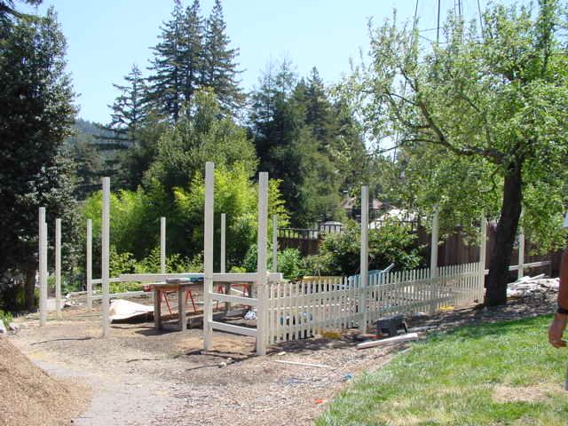 V garden during