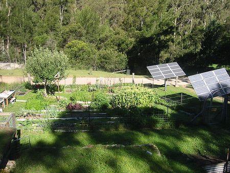 Solar garden panels